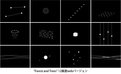 """Forest and Trees"" 12画面webバージョン"