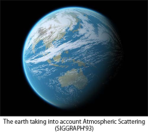 The earth taking into account Atmospheric Scattering(SIGGRAPH'93)