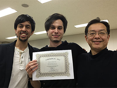 本学大学院メディアサイエンス専攻生が国際学会「サイバーワールズ2015( CYBERWORLDS 2015 )」でベストペーパー賞を受賞